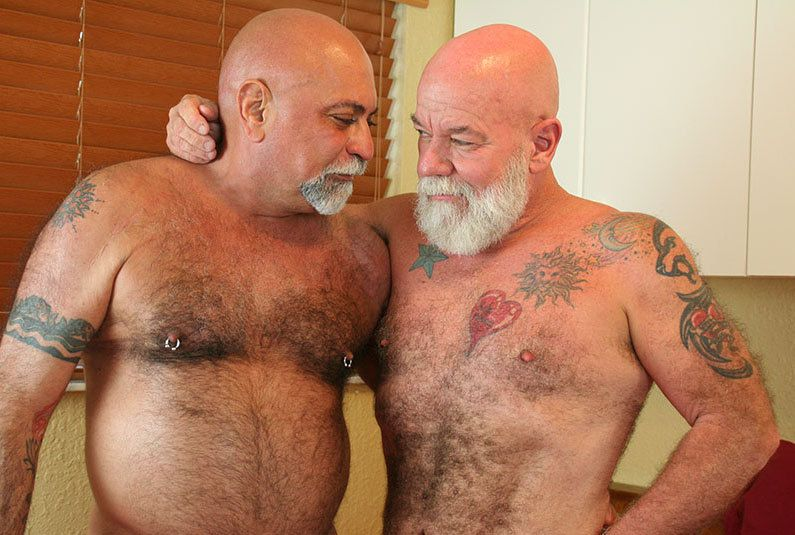 Gay bears slam muscly asses