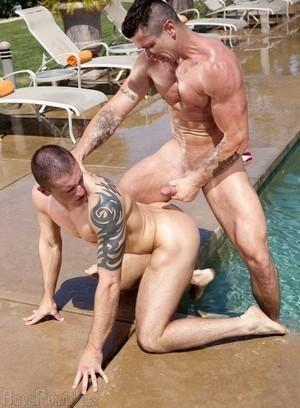 Gay poolside sex Porn Pictures - 43 Galleries