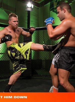 Muscle man Luke Adams,Owen Michaels,