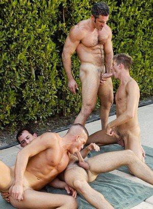 Muscle man Travis Reed,Colton Ford,Aaron Parker,Jerek,