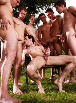 Muscle man Enzo Bloom,Nick Gill,Luke Taylor,Nick Daniels,Gery Rake,