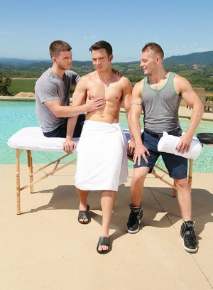 Muscle man Addison Graham,Jake Karhoff,Ivan James,