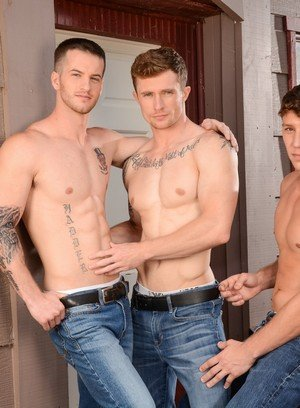 Naked Gay Quentin Gainz,Paul Canon,Markie More,