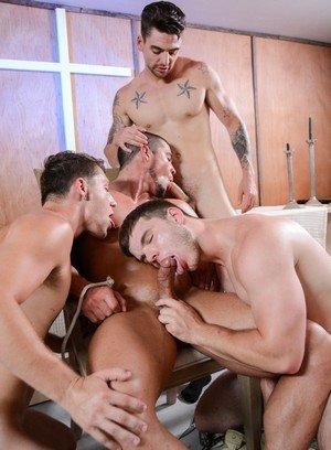 Muscle man Johnny Torque,Dante Martin,Derrick Dime,Markie More,Arad,
