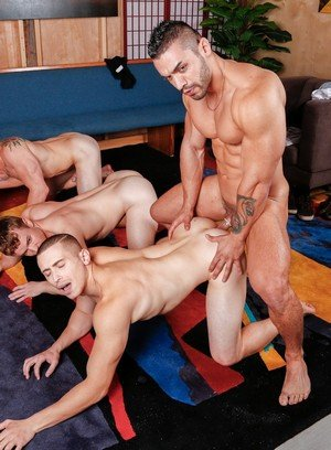 Hunky Gay Arad,Markie More,Gabriel Cross,Dante Martin,