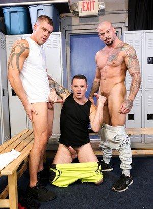 Muscle man Darin Silvers,Sean Duran,Max Cameron,