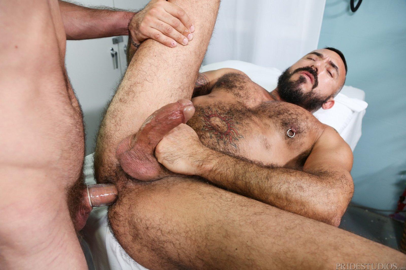 Hairy bear gay group sex