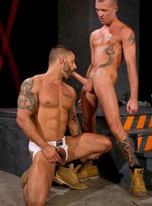 Muscle man David Benjamin,Jessy Karson,