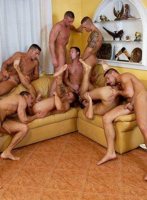 Hunky Gay Enrico Belaggio,Steve Hunt,Joshua Rodgers,Rick Bauer,