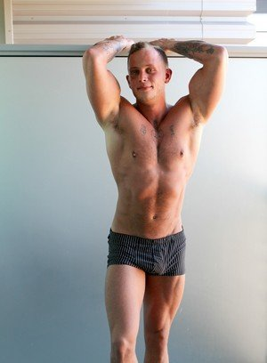 Muscle man Zack Matthews,