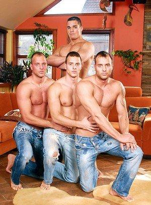 Sexy Dude Brandon Steel,Joey Visconti,Jimmy Visconti,Jason Visconti,