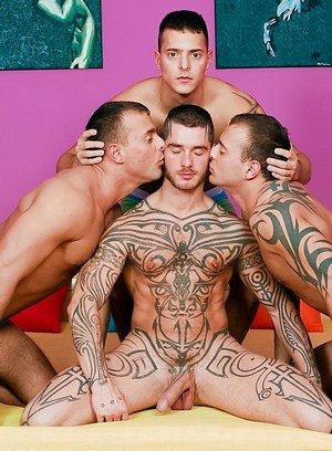 Sexy Gay Jason Visconti,Jimmy Visconti,Joey Visconti,Logan Mccree,