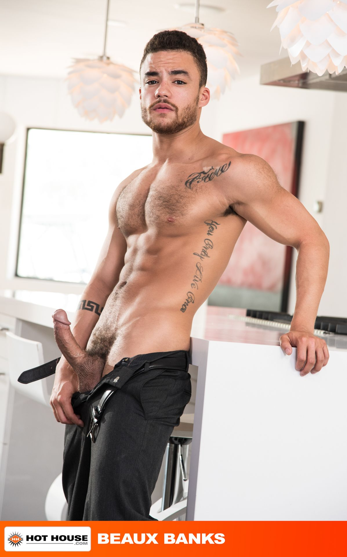 Hot and horny gay pornstar videos and free Beaux Banks