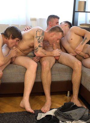 Naked Gay Tomas Berger,Tom Vojak,Karel Polak,Filip Onalek,