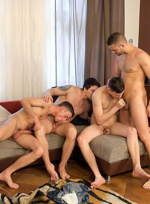 Naked Gay Miro Dalek,Nicolas Daner,Gerasim Spartak,