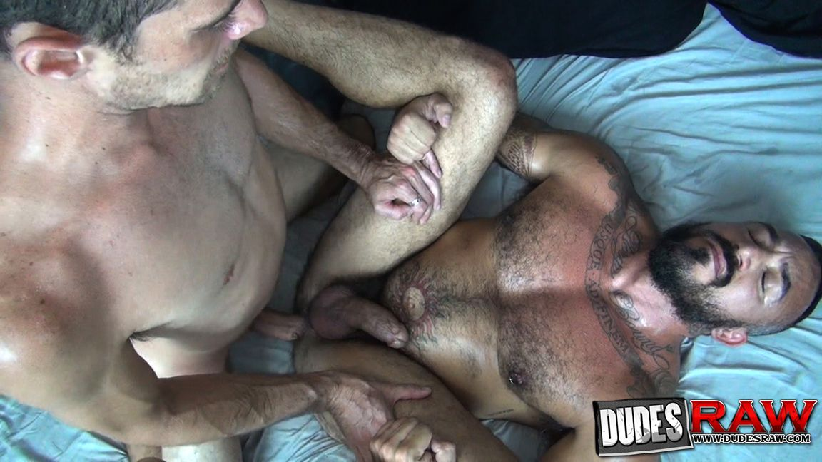 Brian bonds slides his huge cock through the glory hole into alessio romero's eager mouth naked gay porn pics