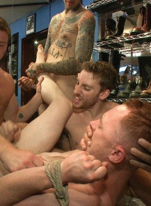 Sporty Hunk Connor Maguire,Bryan Cavallo,Damien Moreau,