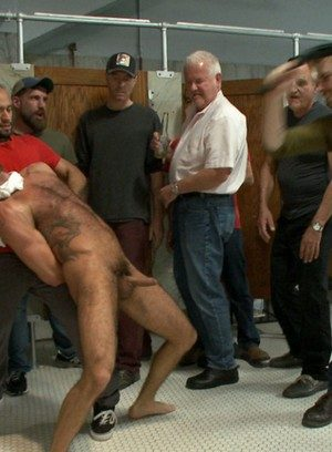 Hunky Gay Eli Hunter,Big Red,Marcus Isaacs,Leo Forte,
