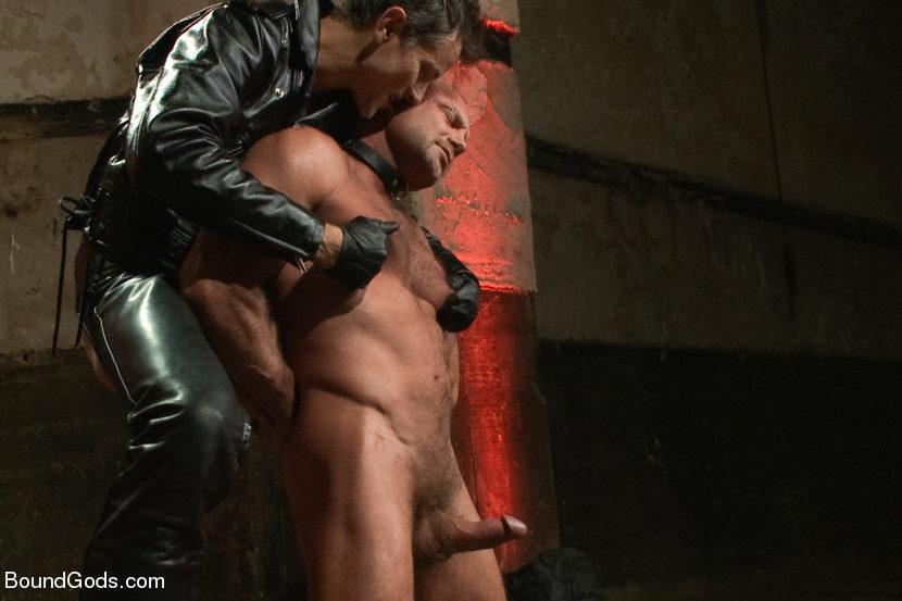 Leather hairy man hole