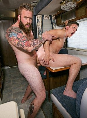 Hunky Gay Alexander Motogazzi,Aaron Bruiser,
