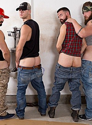 Muscle man Jaxton Wheeler,Brandon Evans,Aaron Bruiser,Brendan Patrick,