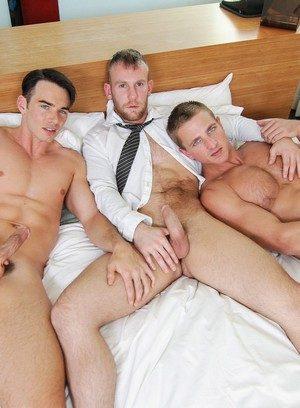 Hunky Gay Damien Michaels,Addison Graham,Landon Mycles,