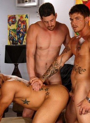 Sporty Hunk Andrew Stark,Sebastian Young,Trey Turner,