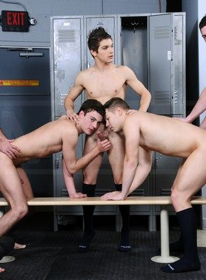 Horny Hunter Page,Riley Banks,Mike De Marko,Andrew Stark,Johnny Rapid,