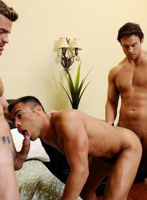 Naked Gay Rocco Reed,Landon Conrad,Micah Brandt,