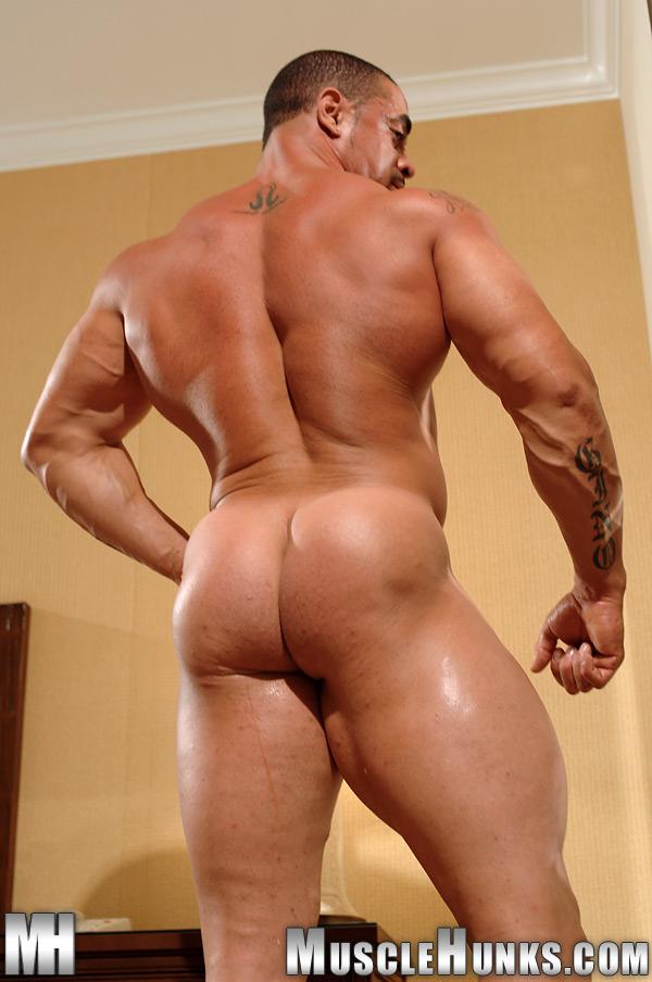 Muscular latino naked gay, hands on hips kiss nakes
