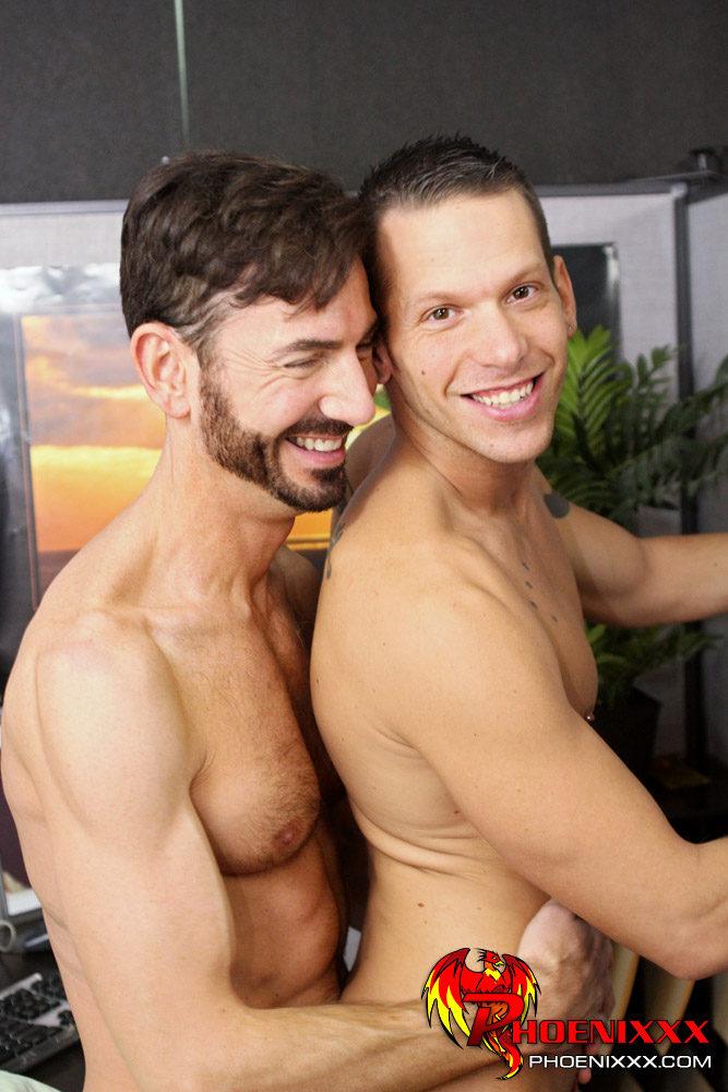 Gay hunk bangs raw butt