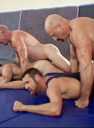 Muscle man Ben Gunn,Chad Adams,Jay Benjamin,Jeff Allen,Larry Wolf,Steve Parker,Will West,