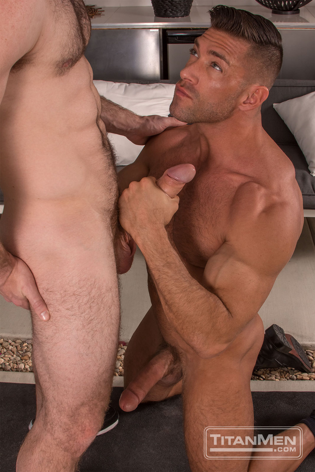Two boys bang the horny whore