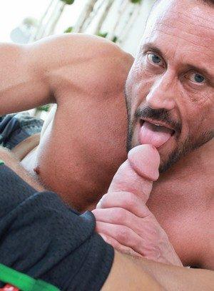 Muscle man Myles Landon,