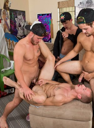Naked Gay Trevor Long,Charlie Paterson,Johnny Cohen,